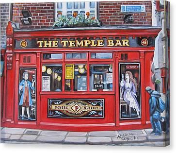 Temple Bar Dublin Ireland Canvas Print by Melinda Saminski