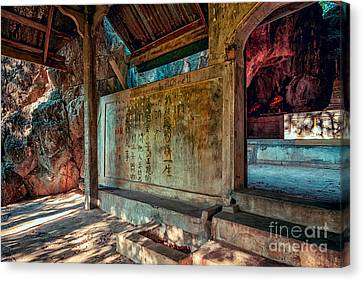 Temple Cave Canvas Print by Adrian Evans
