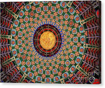 Canvas Print featuring the photograph Temple Ceiling by Lisa L Silva