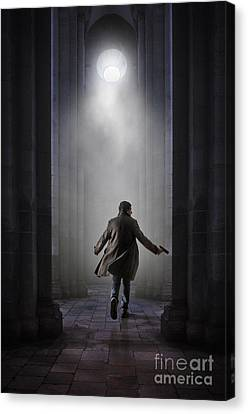 Medieval Temple Canvas Print - Temple Chase by Carlos Caetano