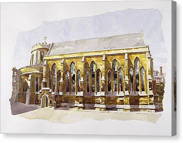 Temple Church Canvas Print by Annabel Wilson