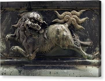 Temple Lion Of Nara Japan Canvas Print