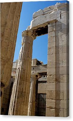 Temple Maze Of Columns Canvas Print by Lorraine Devon Wilke