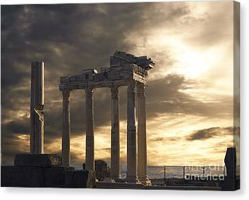 Temple Of Apollo In Side Canvas Print by Jelena Jovanovic