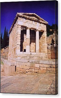 Temple Of Apollo Canvas Print by John Malone