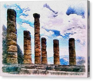 Temple Of Apollo Canvas Print by Laurence Canter