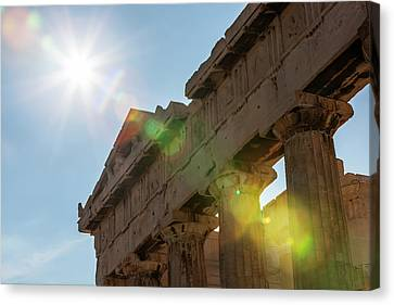 Temple Of Athena  Athens, Greece Canvas Print by Reynold Mainse