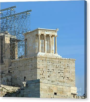 Temple Of Athena Nike Canvas Print by Grigorios Moraitis