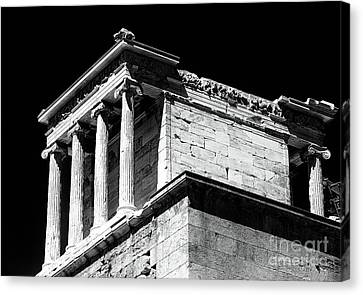 Greek School Of Art Canvas Print - Temple Of Athena Nike by John Rizzuto