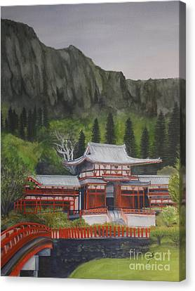 Canvas Print featuring the painting Temple Of Equality by Suzette Kallen