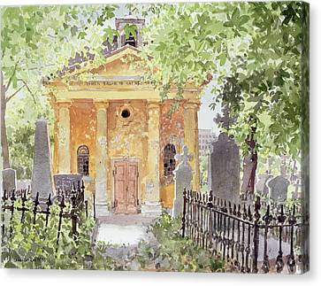 Temple Of Harmony, Vesprem, Hungary, 1996 Wc On Paper Canvas Print