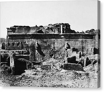 Temple Of Hathor, 1850 Canvas Print