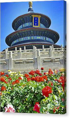 Canvas Print featuring the photograph Temple Of Heaven  by Sarah Mullin