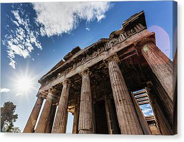 St. George Temple Canvas Print - Temple Of Hephaestus  Athens, Greece by Reynold Mainse