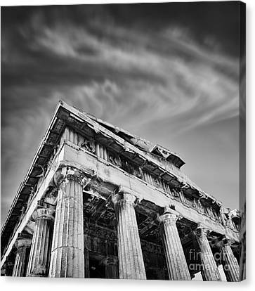 Temple Of Hephaestus- Athens Canvas Print by Rod McLean
