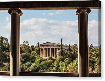 St. George Temple Canvas Print - Temple Of Hephaestus, Greek Orthodox by Reynold Mainse