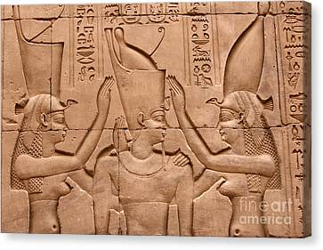 Temple Of Horus Relief Canvas Print