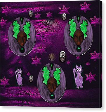 Candle Lit Canvas Print - Temple Of Kind Bambi by Pepita Selles