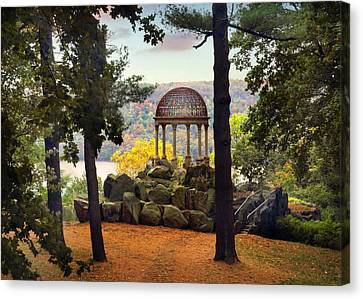 Temple Of Love In Autumn Canvas Print