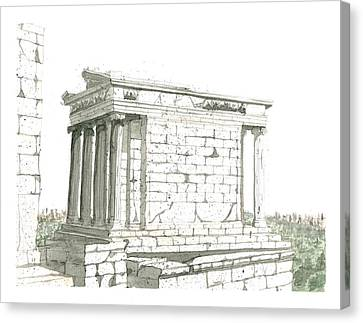 Temple Of Nike Canvas Print by Calvin Durham