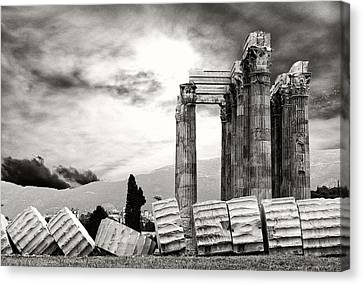 Temple Of Olympian Zeus Canvas Print