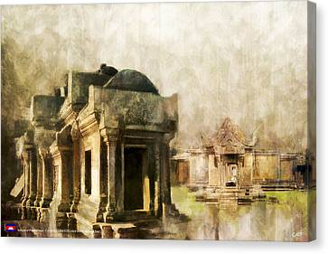 Angkor Canvas Print - Temple Of Preah Vihear by Catf