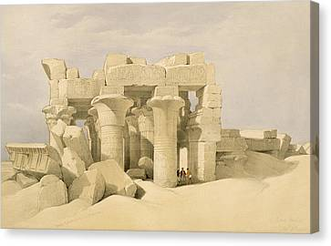 Temple Of Sobek And Haroeris At Kom Ombo Canvas Print by David Roberts