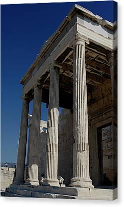 Temple Of The Athena Nike Canvas Print by Lorraine Devon Wilke