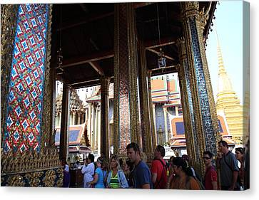 Temple Of The Emerald Buddha - Grand Palace In Bangkok Thailand - 011310 Canvas Print