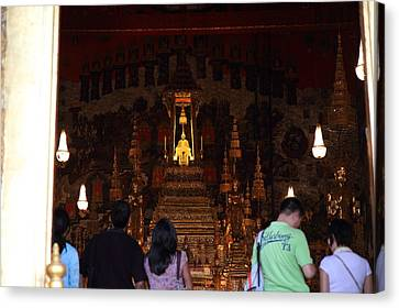 Temple Of The Emerald Buddha - Grand Palace In Bangkok Thailand - 011311 Canvas Print by DC Photographer