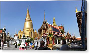 Buddha Canvas Print - Temple Of The Emerald Buddha - Grand Palace In Bangkok Thailand - 01132 by DC Photographer