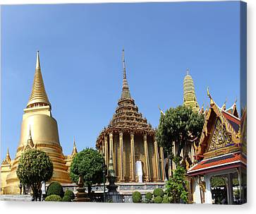 Emerald Canvas Print - Temple Of The Emerald Buddha - Grand Palace In Bangkok Thailand - 01137 by DC Photographer