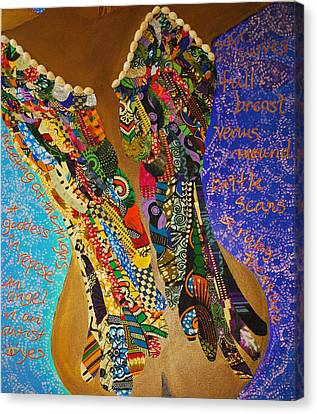 Canvas Print featuring the tapestry - textile Temple Of The Goddess Eye Vol 1 by Apanaki Temitayo M