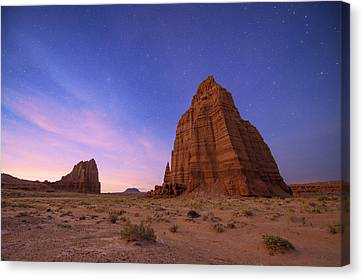 Temple Of The Sun And Moon Canvas Print by Dustin  LeFevre