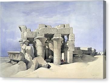 Temple On Nile Canvas Print by David Roberts