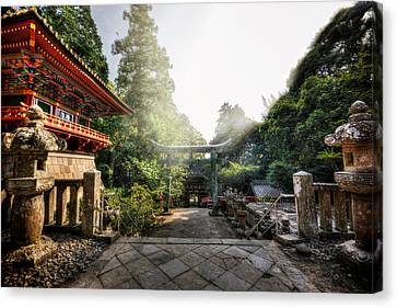 Temple Pathway Canvas Print