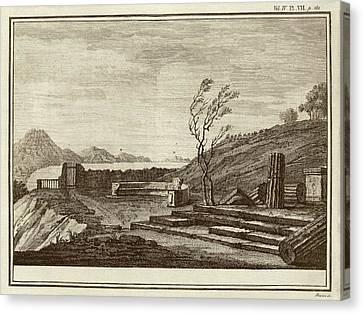 Temple Ruins At Pompeii Canvas Print