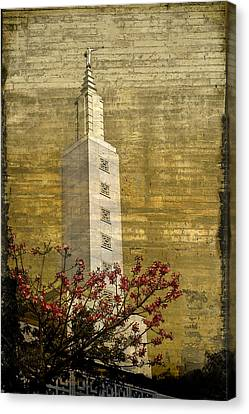 Temple With Red Canvas Print