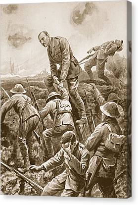 Courage Canvas Print - Temporary Major S.w. Loudoun-shand by Alfred Pearse