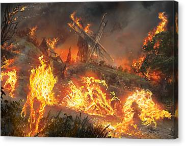 Tempt With Vengeance Canvas Print by Ryan Barger