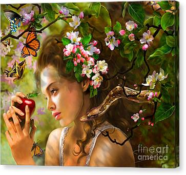 Temptation Of Eve Canvas Print by Drazenka Kimpel
