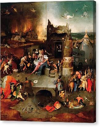 Temptation Of Saint Anthony - Central Panel Canvas Print