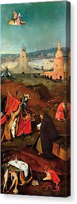 Temptation Of Saint Anthony - Right Wing Canvas Print