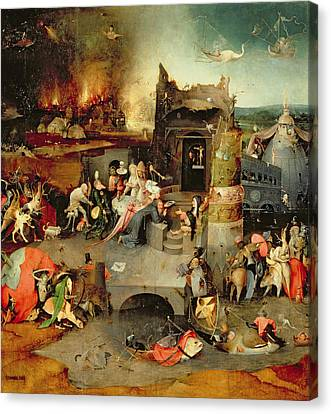 Temptation Of Saint Anthony Centre Panel  Detail Canvas Print by Hieronymus Bosch