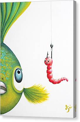 Parrot Fish Canvas Print - Temptation by Oiyee At Oystudio