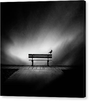 Empty Canvas Print - Tempus Fugit by Sebastien Del Grosso