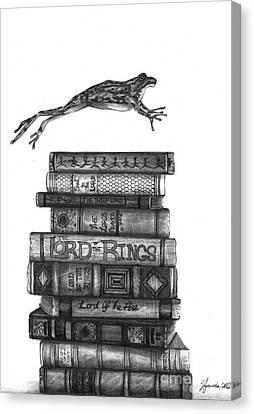 Books Canvas Print - Ten Lords A Leaping by J Ferwerda