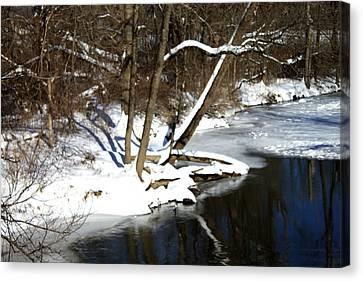 Ten Mile River Ne View Canvas Print by Barbara Giordano