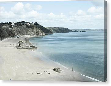 Tenby Beach In South Wales Canvas Print