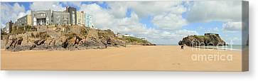 Tenby Beach Panorama Canvas Print